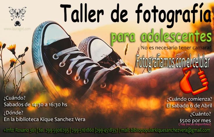 afiche taller foto biblio